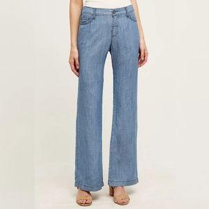 Anthropologie Pilcro Chambray Linen Blend Pants 27